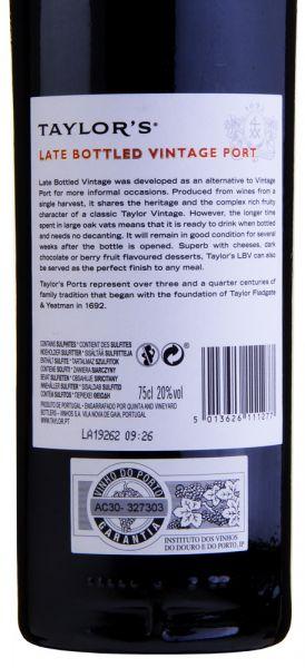 29,32€/L TAYLOR'S Port Late Bottled Vintage 2014 Port