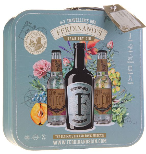 FERDINAND's Gin & Tonic Traveller's Box mit 2 Fl. Tonic Water
