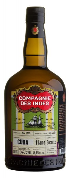 COMPAGNIE DES INDES Cuba Rum   11YO Single Cask Rum Bottled for Perola