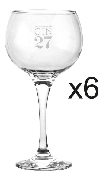 Gin 27 Kelchglässer 6er Set