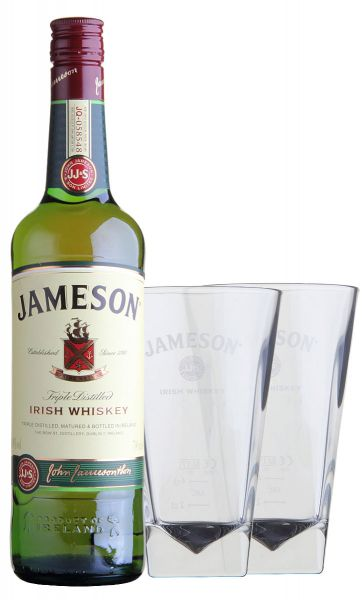34,27€/L Jameson Irish Whiskey Set mit 2 Gläsern