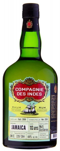 Compagnie des Indes JAMAICA 10 ans Single Cask Rum (Multi Distilleries)