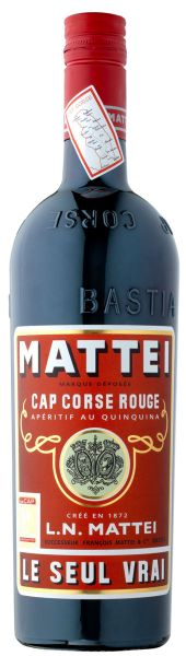 26,65€/L MATTEI Cap Corse Rouge Aperitif au Quinquina LE SEUL VRAI