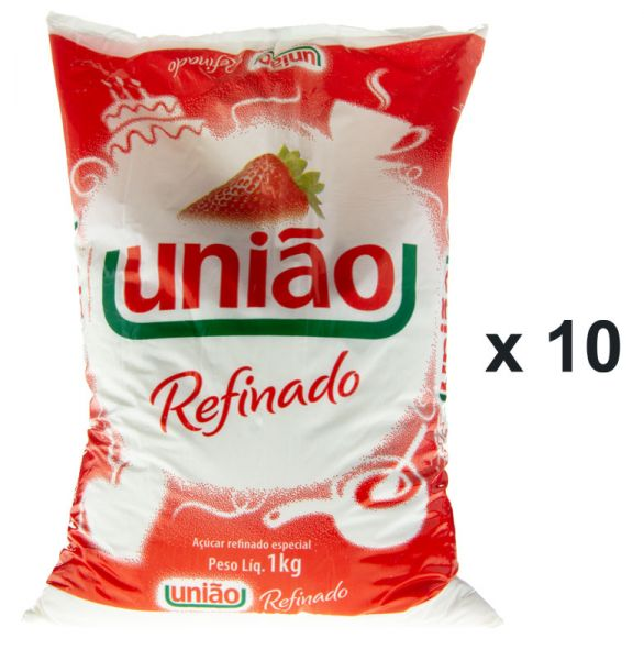 GUARANI brasilianischer feiner weißer Rohrzucker (10 x 1kg)