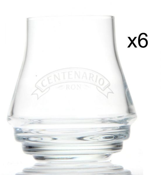 6x Ron Centenario RUM-GLAS