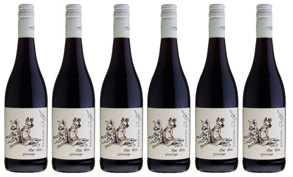 6er Set PAINTED WOLF The Den Pinotage 2015 Rotwein
