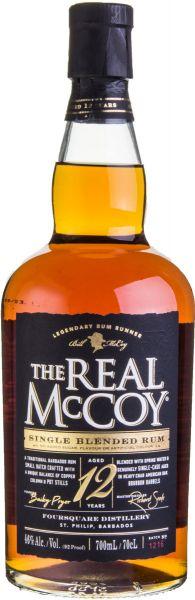 THE REAL MCCOY Single Blended 12 YO Barbados Rum