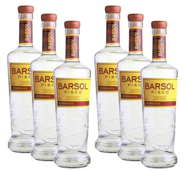 6 x BARSOL Quebranta Pisco