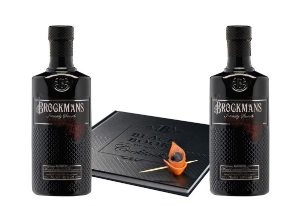 """53,56€/L Brockmans Gin mit """"The Black Book of Gin Cocktails"""""""