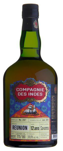 Compagnie des Indes Rum RÉUNION Savanna Distillery 12 ans Cask Strength Single Cask Rum