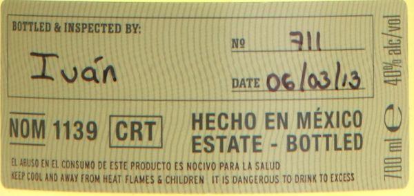 78,57€/L VILLA LOBOS Añejo 100% Agave Tequila