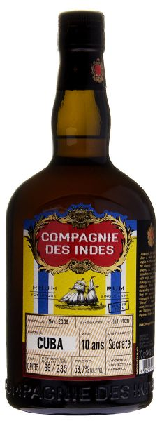 COMPAGNIE DES INDES Rum Cuba | 10YO Cask Strength Single Cask Rum