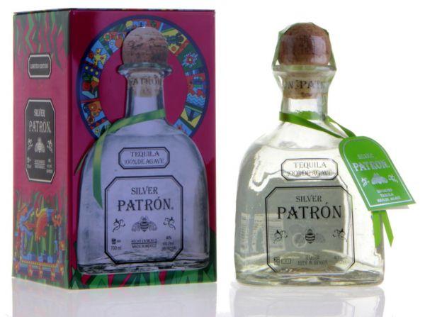 Patron Silver Tequila 100% Agave mit Geschenkbox