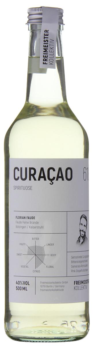Eine Flasche Freimeisterkollektic Curacao.