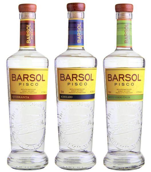 BARSOL Pisco Paket 3 Flaschen