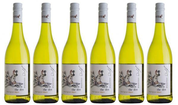 6er Set PAINTED WOLF The Den Sauvignon Blanc 2017 (Weißwein, Südafrika)