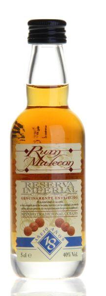 Ron MALECON 18 Años Rum - 50 ml Miniatur