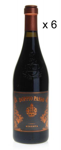13,20€/L DOPPIO PASSO Brindisi DOC Reserva 2016 Rotwein 6-Flaschen-Set