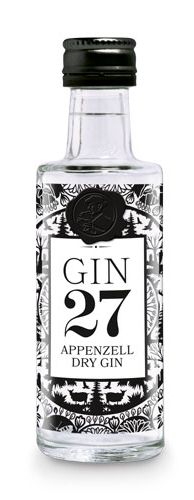 GIN 27 Premium Appenzeller Dry Gin Miniatur