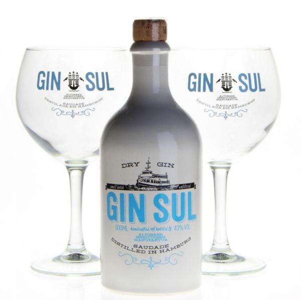 GIN SUL mit 2 Gin Sul Ballongläsern